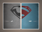 Man of Steel Poster concept (2 pieces) by lancewaldrop