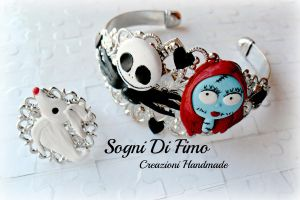 The nightmare before christmas Fimo Jack Sally by SogniDiFimoCReazioni