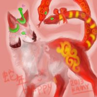 happy snake year 2013 by Kami-Unreal