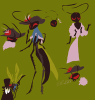 wasp lady by SulphurSpoon