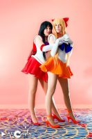 Sailor Mars and Venus 2 by nearlyfarley