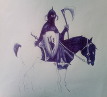 Unfinished Knight doodle thing by jokerFREEEK