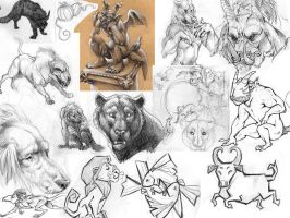 Sketch Page - Beasties by StudioPsycho