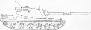 XM-119 Experimental Heavy Tank by Schaghticokekid