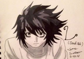 Death Note: L by dbz-senpai