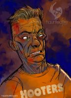 Hooters Zombie by cyclonaut