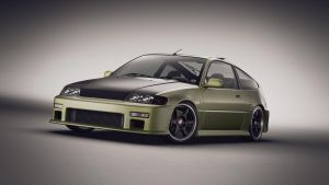 Honda CRX Front by NasG85