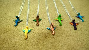 Wind Drake Necklaces by Airy-Styles