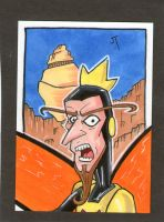 The MONARCH!!  sketch card by johnnyism