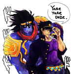 Yare yare daze by SimonTheFox1
