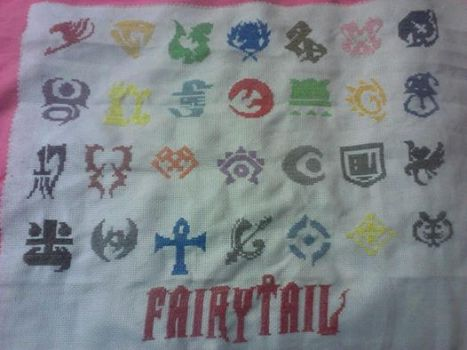 Fairy Tail Cross Stitch by animelover140