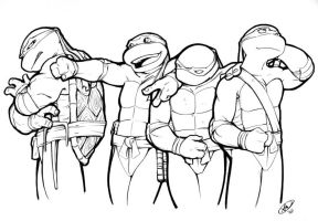 Turtles Con Sketch by AdamWithers