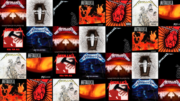 Metallica Albums Tile by MetallicaSeid