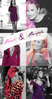 Demi Lovato Pink and Purple by cutebahary