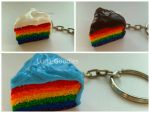 Rainbow cakes! For Sale! by Luna-Goodies