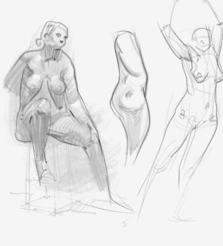 Figure Sketches aug5th by vladgheneli