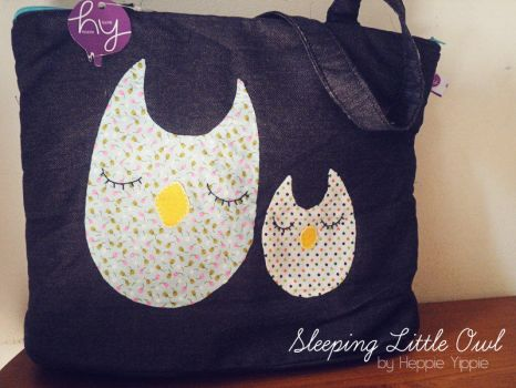 Sleeping Litlle Owl Jeans Heppieyippie by heppieyippie