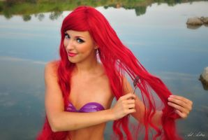 Ariel  little mermaid and fork by Yana-Mio