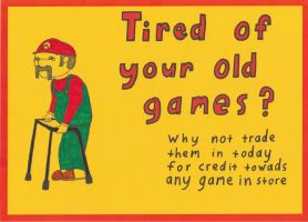 mario trade in sign by Mrharleyquinn