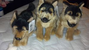 Uni-toy german shepherds and Animal alley one by Vesperwolfy87