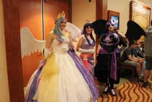 Celestia, Twilight, And NMM by eillahwolf