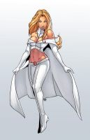 Emma Frost coloured by EMC-