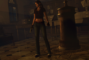 Dusk at the RPD by Jill-Valentine666
