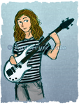 Bassist, commision by Galo-Kat