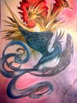 Zapdos, Moltres And Articuno by dressedlikepotatoe