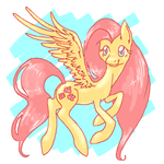 Fluttershy on dA muro by bloominglove