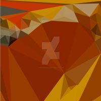 Paprika Orange Red Abstract Low Polygon Background by apatrimonio