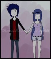 -AT style: Sasuke and Hinata by Moony-14-Lucky