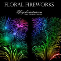 Floral Fireworks Brushes Photoshop by DonnaCuzzard