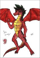 Jake Long - dragon form by MortenLung