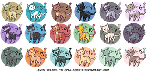 7 POINT CAT ADOPTABLES (CLOSED) by 0palite
