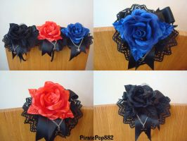 Rose Headdresses by scream-of-existence
