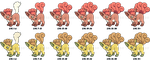 Vulpix Tails Growing Process + Shiny by Cachomon