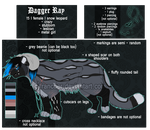 Dagger Ray Referencesheet 2015 by King-Coer