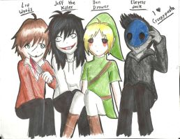 CreepyPasta Family by OkumuraJaqueline