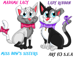 Miss Bow's Sisters-Madame Lacy and Lady Ribbon by TheOriginalSkunky