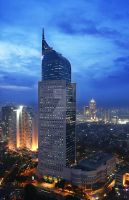 BNI Tower Blue Hour Jakarta by capcayster