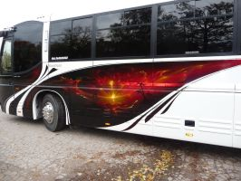 airbrush wedding bus__ by shepa