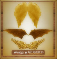 Wings 2 Gimp Brushes by blueeyedmagickman