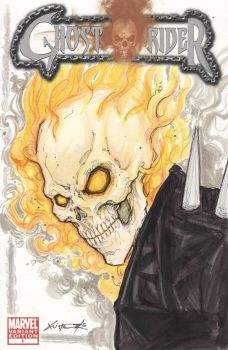 Ghost Rider Comic Book Sketch Cover by ChrisOzFulton