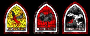 Blackfyre Rebellion window by guad
