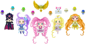 ChibiP: Suite Pretty Cure by blknblupanther