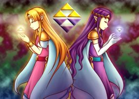 Princesses of the Triforce Unity by Taco-Yaki