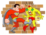 Supes Gonna Kick U In the Nuts by kevinbolk