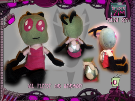 FOR SALE Invader Zim Plush by TigerChickTigriss