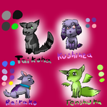 Four more characters by pokebulba